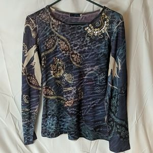 Amour blue and gold shirt
